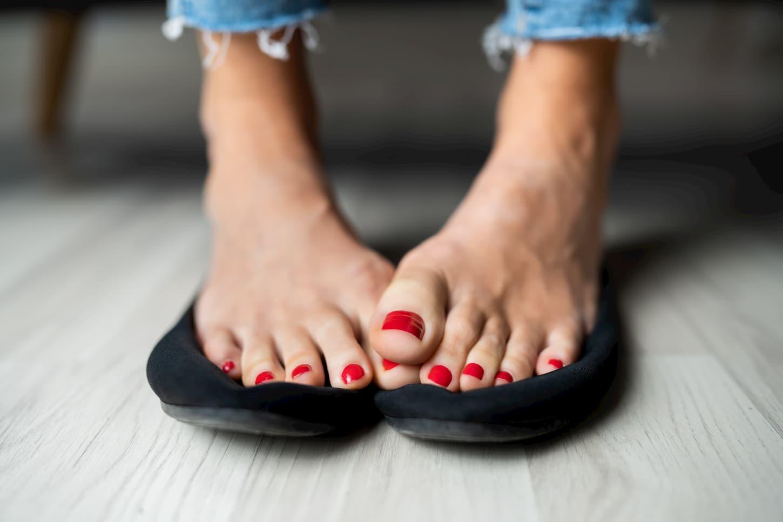 pieds moites