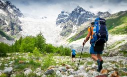 soin de pieds en randonnée