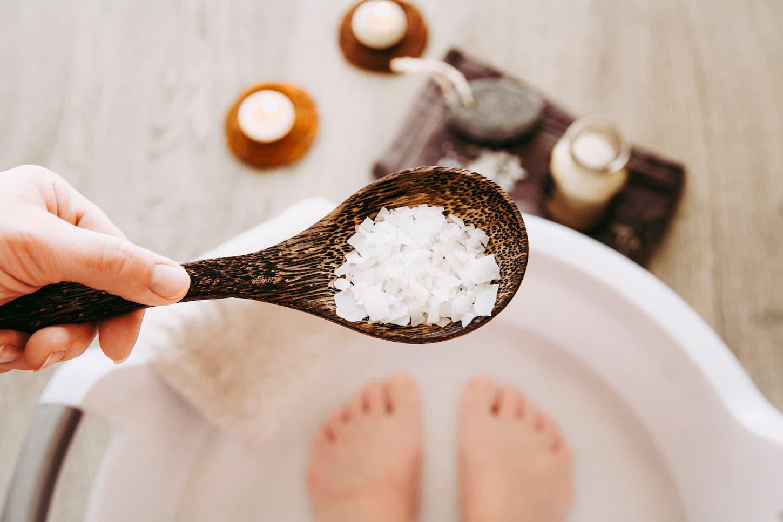 bain de pied sel epsom
